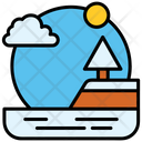 Lake Lagoon Landscape Icon