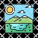Lake Water Nature Icon