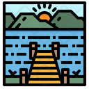 Lake River Sea Icon