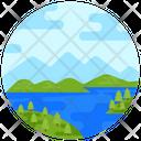 River Lake Beach Icon