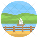 Seaside Island River Icon