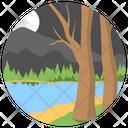 River Lakeside Valley Icon