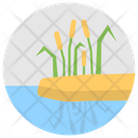Lakeside Plant Freshwater Plant Cattail Icon