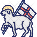 Lamb And Flag Icon