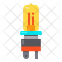 Lamp Halogen Electronics Icon