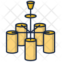 Lamp Chandelier Home Icon