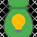 Lamp And Bag Money Bag Money Idea Icon
