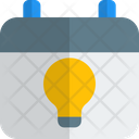 Lamp And Calendar Calendar Idea Icon