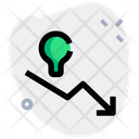 Lamp And Down Chart Decrease Chart Graph Icon
