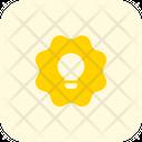 Lamp And Flower Idea Idea Sticker Icon