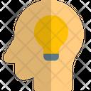 Lamp And Head Mind Idea Creative Mind Icon