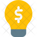 Lamp And Money Money Idea Finance Idea Icon
