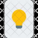 Lamp And Paper Business Idea Idea Icon