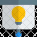 Lamp And Screen Presentation Presentation Board Idea Icon