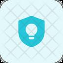 Lamp And Shield Idea Shield Idea Protection Icon