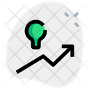 Lamp And Up Chart Idea Growth Finance Icon