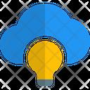 Lamp Cloud Cloud Idea Online Idea Icon