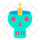 Skull Candle Horror Icon