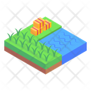 Cultivation Land Farming Fields Icon