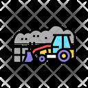 Landfill Tractor Color Icon
