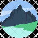 Landforms Valley Seaside Icon