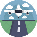 Airport Landing Airplane Icon