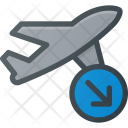 Landing Flight Plane Icon