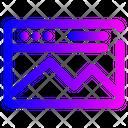 Landingpage Website Design Icon
