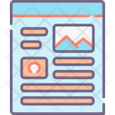 Mlanding Page Landing Page Website Content Icon