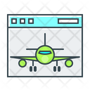 Aircraft Airplane Landing Icon