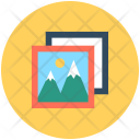 Landscape Scenery Mountains Icon