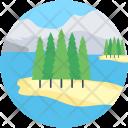 Landscape Fir Tree Icon