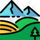 Landscape Mountain Tree Icon