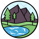 Landscape Hill Station Mountain Range Icon