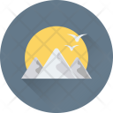 Landscape Mountain Birds Icon