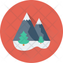 Landscape Mountain Forest Icon
