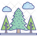 Clouds Greenery Landscape Icon