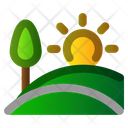Landscape Nature Spring Icon