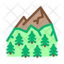 Mountain Landskape Vegetation Icon