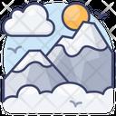 Hill Peak Landscape Icon