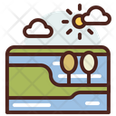 Landscape River Water Icon