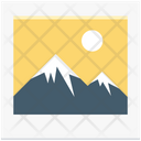 Scenery Photo Frame Picture Icon