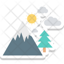 Landscape Mountain Nature View Icon