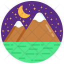 Alluring Night Mountain Starry Night Hill Station Icon
