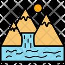 Sun Mountain Range Hills Icon