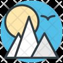 Landscape Scenery Mountains Icon