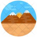 Landscape Painting Hill Station Scenery Icon