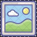 Landscape Mountains Nature Icon