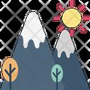 Mountains Hill Rocks Icon