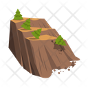 Landslide Avalanches Disaster Icon